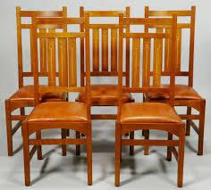 5 harvey ellis stickley side chairs contemp