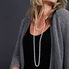 pearls necklace length images Cultured pearl 60 inch necklace quot from the classic coco chanel to jpg