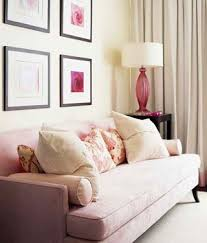 pink sofa w four photos above it designed by sarah richard u2026 flickr