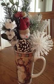 winter christmas snowman coffee mug floral arrangement free