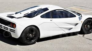 mclaren f1 concept unique mclaren f1 with marlboro white paint will be auctioned