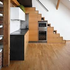 kitchen room small kitchen cabinet under wooden staircase without