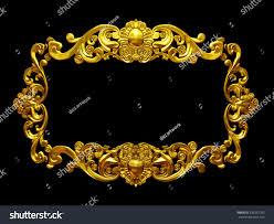 golden frame organic ornaments gold pictures stock illustration
