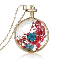 blue glass pendant necklace images Latest design beautiful flower locket pendant necklace fashion jpg