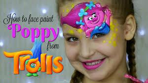 trolls princess poppy u2014 face painting u0026 makeup for kids youtube