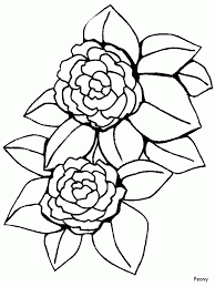 flower page printable coloring sheets printable peony flowers