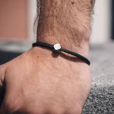 stainless steel black bracelet images Personalised stainless steel matte black cable bracelet by bailey jpg
