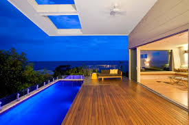 swimming pool and terrace design in modern coolum bays beach house