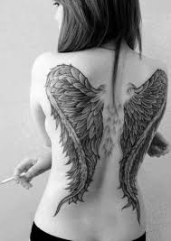 wing designs ideas on back tattoos