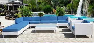 White Wicker Outdoor Patio Furniture Tropicana White Outdoor Wicker Sofa Sectional Daybed Chaise Las
