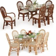 7 piece indoor wicker dining room sets