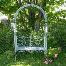 metal garden bench seat with arch garden arbour garden arch with