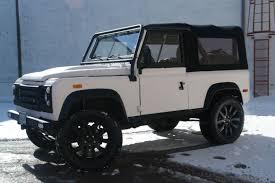 kevlar jeep blue land rover defender white kevlar pdm conversions
