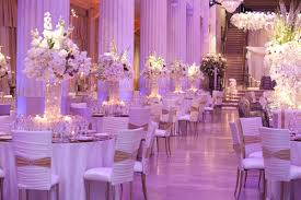 purple and white wedding exceptional wedding event in historical houston building inside