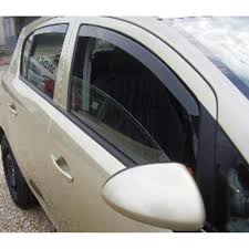 opel door deflectors opel corsa d 5 door 06 front and back