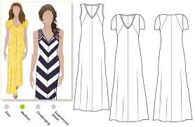 design pattern of dress stylearc jacinta maxi dress