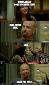 From Paris With Love Meme - skinhead john travolta memes imgflip
