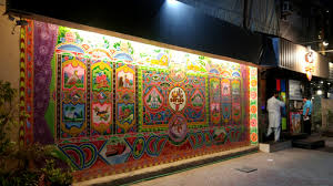 truck art in south asia wikipedia truck art decorates the facade of a business in peshawar pakistan