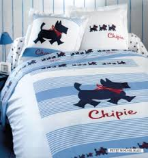 Duvet 100 Cotton Duvet Cover Chipie Small Dog Blue Foam 100 Cotton