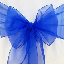 royal blue chair sashes tablecloths and napkins rodriguez imports organza sashes
