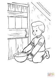 christmas eve in denmark coloring page free printable coloring pages