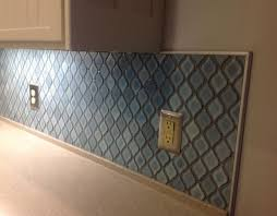 how to kitchen backsplash arabesque blue tile backsplash using an adhesive mat hometalk