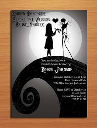 nightmare before christmas wedding invitations nightmare before christmas bridal shower customized printable