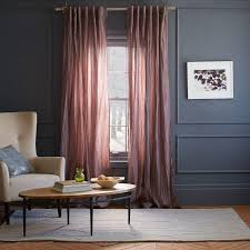 Dusty Curtains Pink Crinkled Stella Curtain