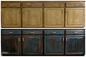 Black Brown Kitchen Cabinets by Distressed Black Kitchen Cabinets Home Design Ideas And Pictures