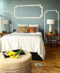 painted molding bedroom modern with blue wall with crown molding