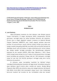 contoh membuat proposal riset contoh proposal penelitian hub