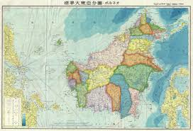 World War Ii Maps by File 1943 World War Ii Japanese Aeronautical Map Of Borneo