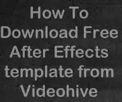 how to download videohive after effects templates free videoadept