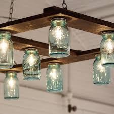 Pottery Barn Mason Jar Chandelier Jar Light Fixtures Lighting Designs