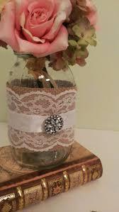 jar centerpiece ideas rustic centerpiece for burlap wedding lace wedding jar