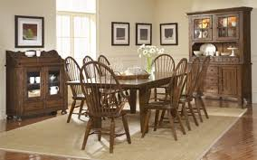 Furniture Dining Room Chairs Enchanting Attic Heirlooms Leg Table Dining Room Set Rustic Oak By