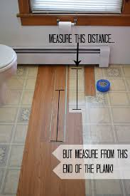 install peel and stick vinyl floor planks in the bathroom more
