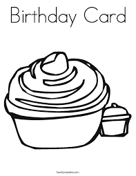 birthday card coloring page twisty noodle