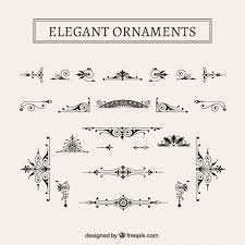 vintage ornaments pack vector free