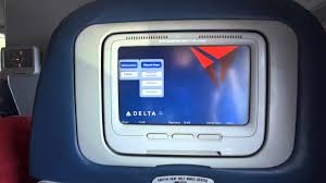 Delta Inflight Wifi by Delta In Seat Entertainment Demo Delta On Demand On A 757 Youtube