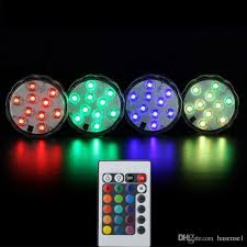 light and battery store remote controlled 10 led submersible led rgb waterproof led light