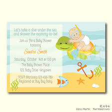 the sea baby shower invitations baby shower invitations themes custom the sea ba shower invite