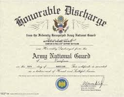 honorable discharge certificate us army honorable discharge