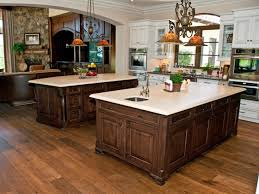 Cherry Kitchen Cabinets With Granite Countertops American Walnut Hardwood Flooring Kitchen Cherry Kitchen Island
