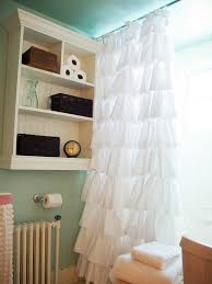 Ruffled Shower Curtains Create An Easy Custom Ruffled Shower Curtain Hgtv