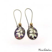 japan earrings japanese inspired dangle earrings made in only one copy jewelry