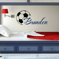 wall decor custom name soccer ball wall decal personalized orlando city soccer wall decor custome boys name wall decals with soccer art wall stickers personalized home kids room decor vinyl 108 cool custome boys