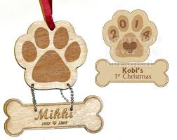 made custom laser engraved wood pet photo ornaments