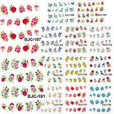 aliexpress com buy 1 set 11 designs glitter flower bird nail art