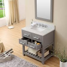 cadale 30 inch gray finish traditional single sink bathroom vanity